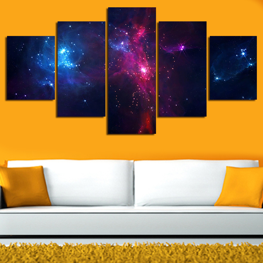 5 Set Painting Galaxy For Living Room - You can see the Milky Way ...