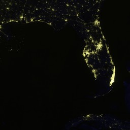Light Pollution Map reveals light pollution in USA and