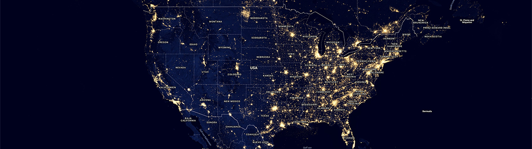 usa light pollution map