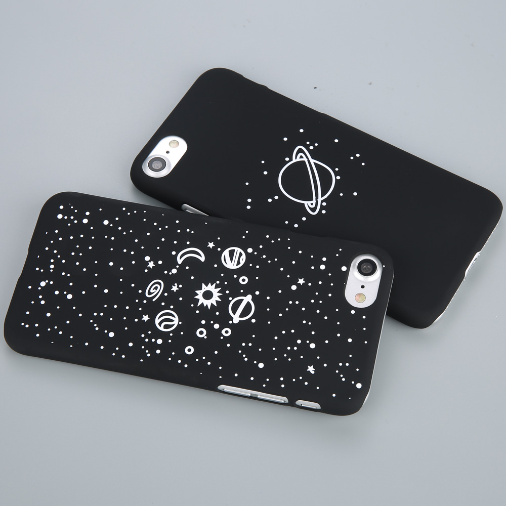 Cartoony Iphone Case With Stars You Can See The Milky